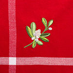 Design Imports Embroidered Holiday Misletoe Tablecloth