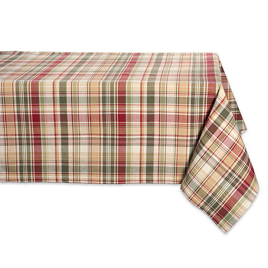 Design Imports Give Thanks Plaid Tablecloth