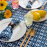 Design Imports Ikat Outdoor Tablecloth