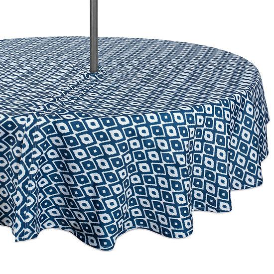 Design Imports Ikat Outdoor Umbrella Tablecloth