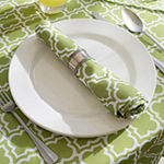 Design Imports Lattice Outdoor Tablecloth
