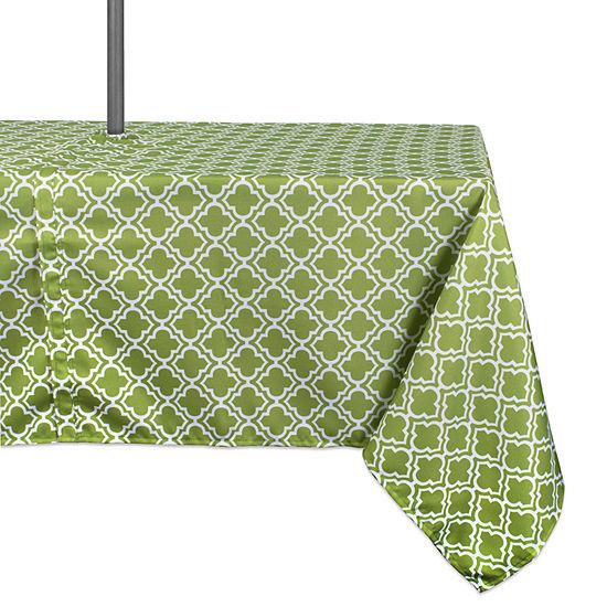 Design Imports Lattice Outdoor Umbrella Tablecloth