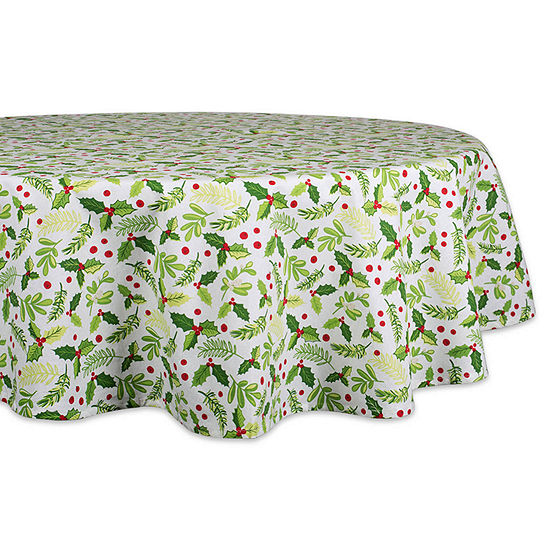 Design Imports Boughs Of Holly Tablecloth
