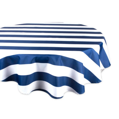 Design Imports Cabana Stripe Outdoor Tablecloth
