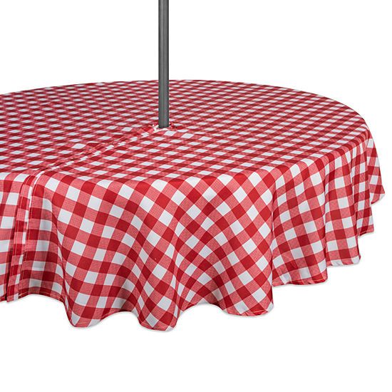 Design Imports Checkers Outdoor Umbrella Tablecloth