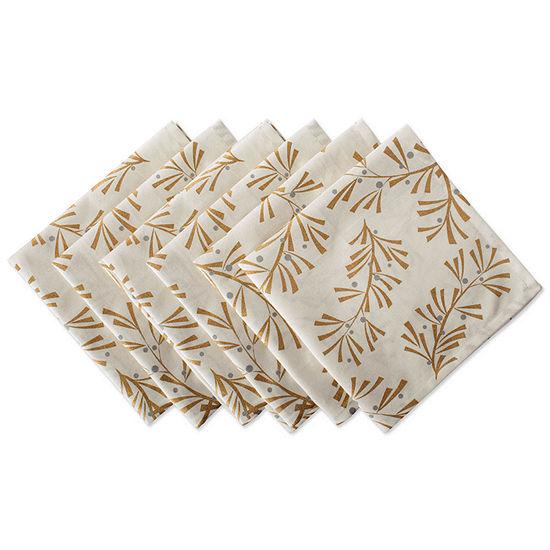 Design Imports Gold Christmas Collage Metallic 6-pc. Napkins