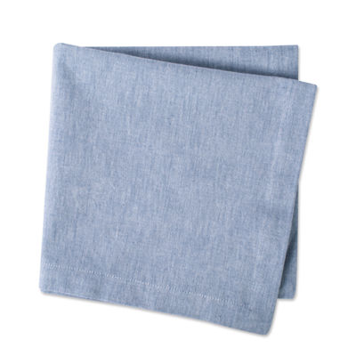 Design Imports Solid Chambray Cotton 6-pc. Napkins