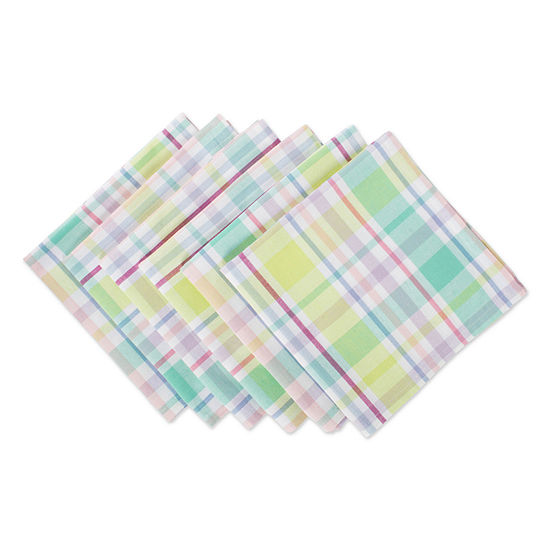 Design Imports Spring Plaid 6-pc. Napkins