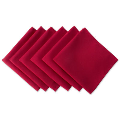 Design Imports Red Polyester 6-pc. Napkins