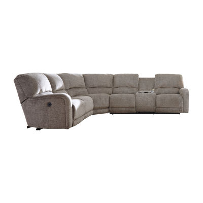 Signature Design by Ashley® Pittsville 4-Pc Power Recline Sectional with Right Arm Facing Loveseat