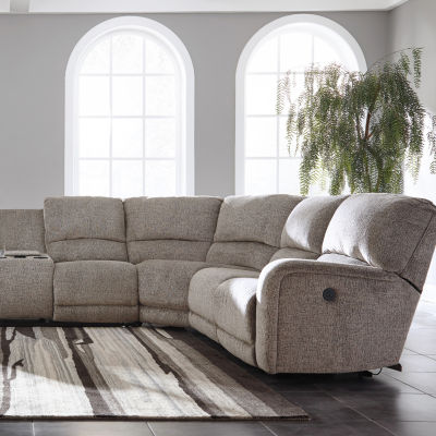 Signature Design by Ashley® Pittsville 4-Pc Power Recline Sectional with Left Arm Facing Loveseat