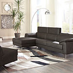 Signature Design by Ashley® Tindell 3-Pc Sectional with Left Arm Facing Chaise