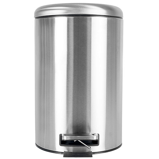 Home Basics Dome Top 12 Liter Stainless Steel Waste Bin