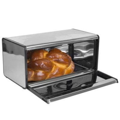 Home Basics Mirror Stainless Steel Bread Box