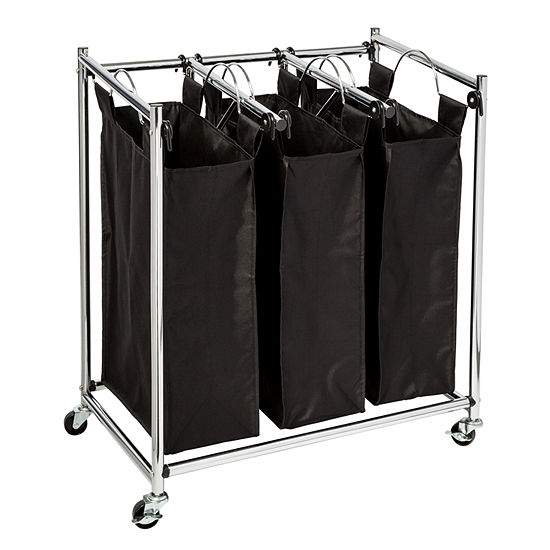 Honey-Can-Do Easy Load Triple Laundry Sorter