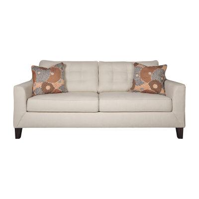 Signature Design by Ashley Benissa Curved Slope-Arm Sofa