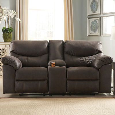 Signature Design by Ashley Boxberg Pad-Arm Reclining Loveseat