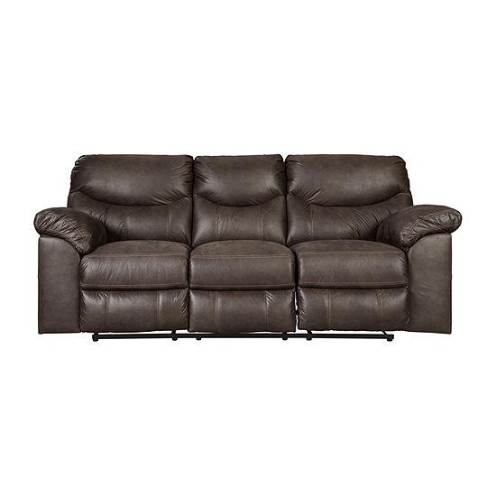 Signature Design by Ashley Boxberg Pad-Arm Reclining Sofa
