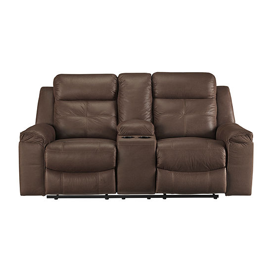 Signature Design By Ashley Jesolo Reclining Faux Leather Loveseat