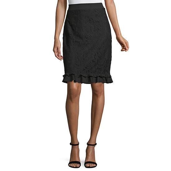 Liz Claiborne Womens Mid Rise Pencil Skirt