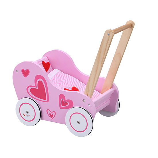 WOODEN DOLL STROLLER 3-pc. Doll Accessory