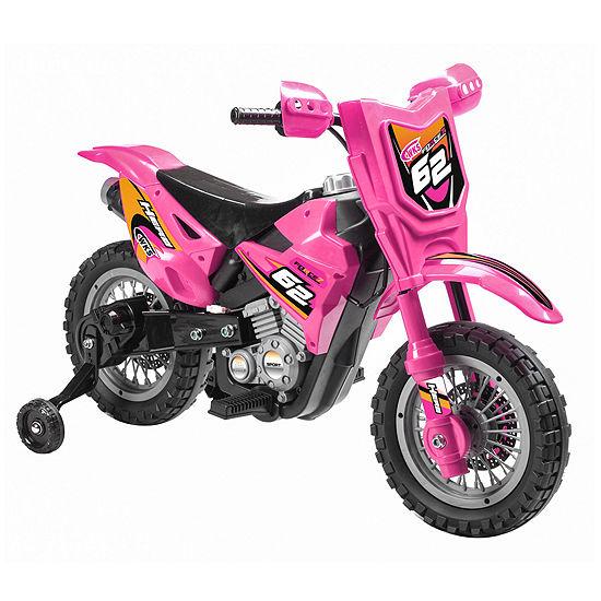 Blazin Wheels Pink 6v Dirt Bike Ride On