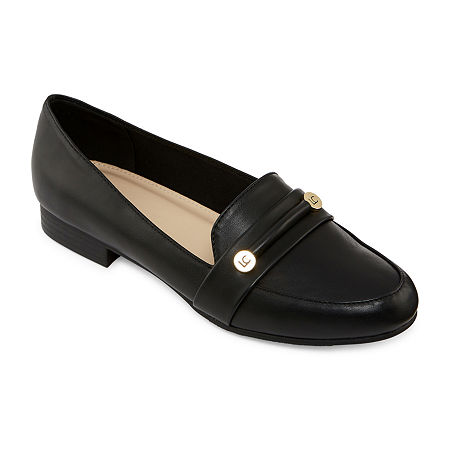 Liz Claiborne Womens Trish Closed Toe Slip-On Shoe, 9 Wide, Black