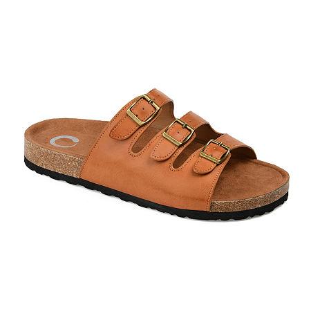 Journee Collection Womens Desta Slip-On Shoe, 7 Medium, Brown