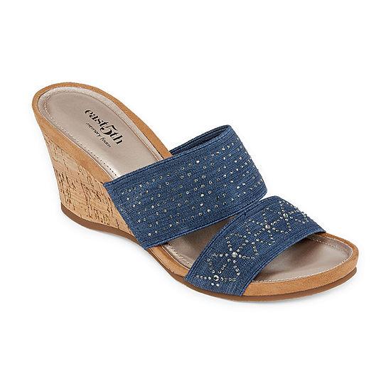 east 5th Womens Vane Wedge Sandals