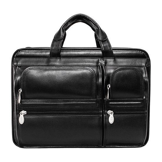 "McKleinUSA Hubbard 15.6"" Leather Double Compartments Laptop Briefcase"