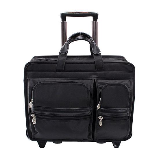 "McKleinUSA Clinton 17"" Nylon Detachable -Wheeled Laptop Briefcase"
