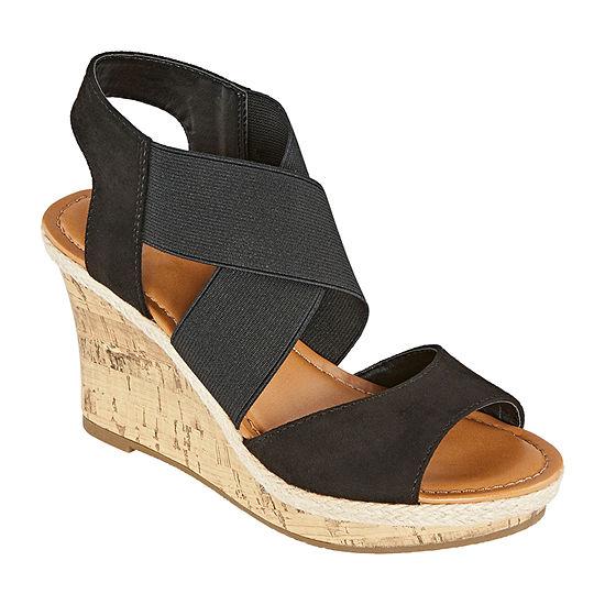 a.n.a. Womens Nautical Wedge Sandals