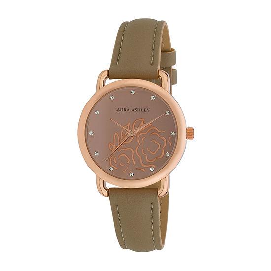 Laura Ashley Womens Pink Strap Watch-La31085rg