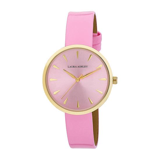 Laura Ashley Womens Pink Bracelet Watch-La31087pk