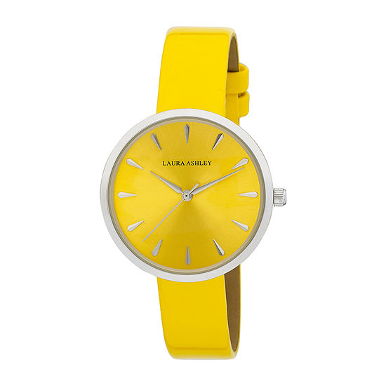 Laura Ashley Womens Yellow Bracelet Watch-La31087yl