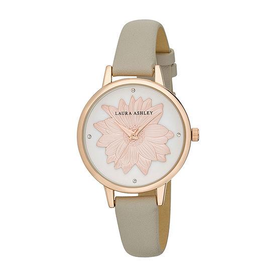Laura Ashley Womens Pink Strap Watch-La31097rg