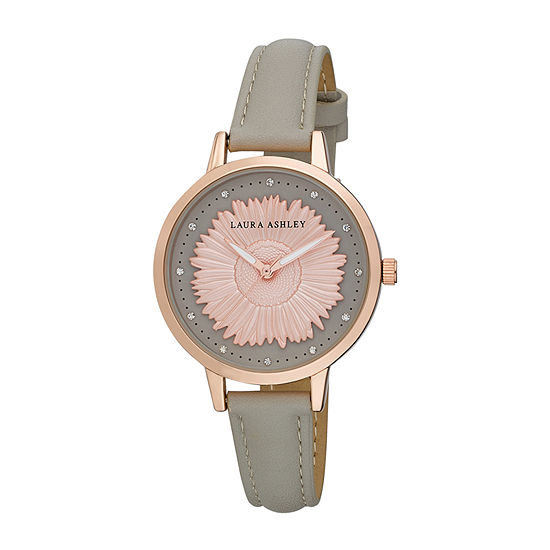 Laura Ashley Womens Pink Strap Watch-La31098rg