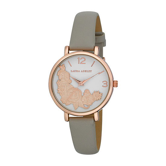 Laura Ashley Womens Pink Strap Watch-La31099rg
