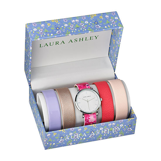 Laura Ashley Womens Silver Tone Bracelet Watch-Lass1101ss