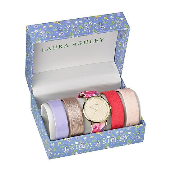 Laura Ashley Womens Gold Tone Bracelet Watch-Lass1101yg