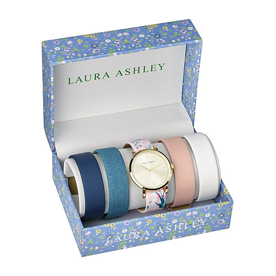 Laura Ashley Womens Gold Tone Bracelet Watch-Lass1102yg