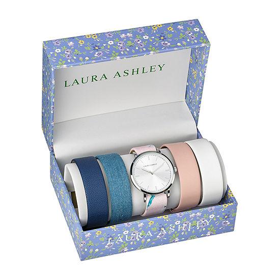 Laura Ashley Womens Silver Tone Bracelet Watch - Lass1102ss