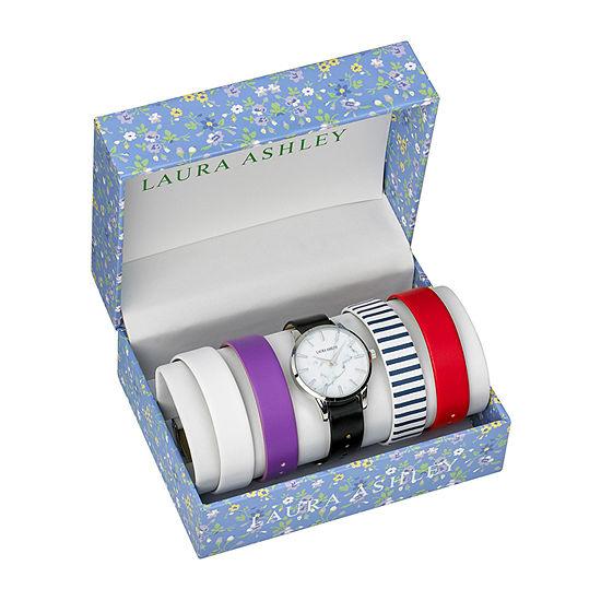 Laura Ashley Womens Silver Tone Bracelet Watch - Lass1105ss