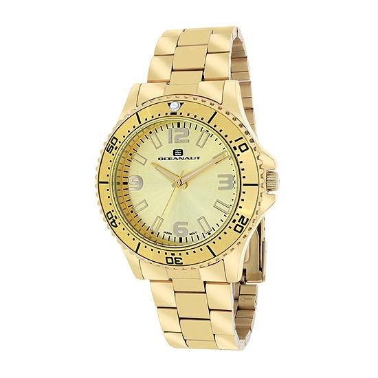Oceanaut Womens Gold Tone Stainless Steel Bracelet Watch-Oc9812