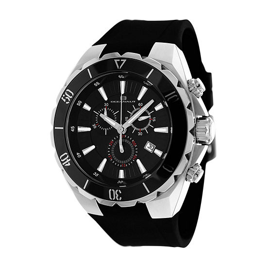 Oceanaut Mens Black Strap Watch-Oc5120
