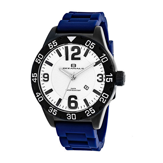 Oceanaut Mens Blue Strap Watch-Oc2714