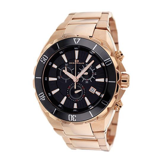 Oceanaut Mens Rose Goldtone Strap Watch-Oc5126