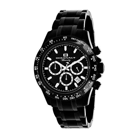 Oceanaut Mens Black Stainless Steel Bracelet Watch - Oc6114
