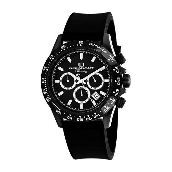 Oceanaut Mens Black Strap Watch Oc6114r