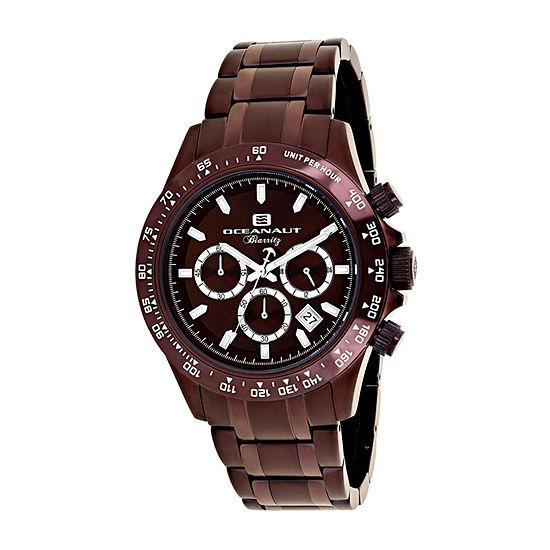 Oceanaut Mens Brown Stainless Steel Bracelet Watch-Oc6116